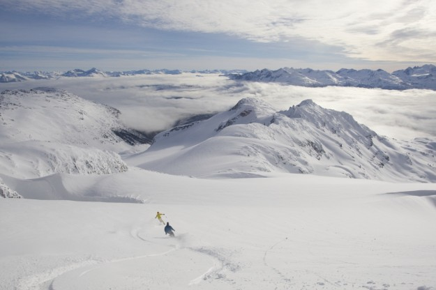 Backcountry skiing, Whistler, British Columbia, Canada.