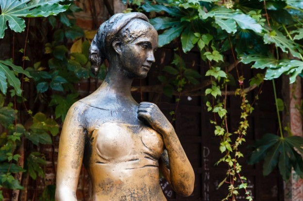Statue of Juliet Capulet in Her House Backyard in Verona Veneto Italy