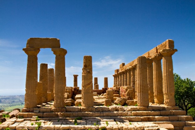 Ancient greek Temple of Juno Agrigento Sicily Italy
