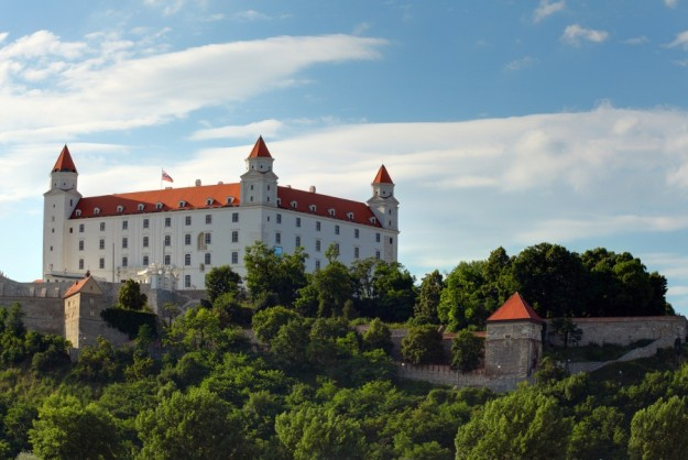 The Bratislava castle during the sunny day