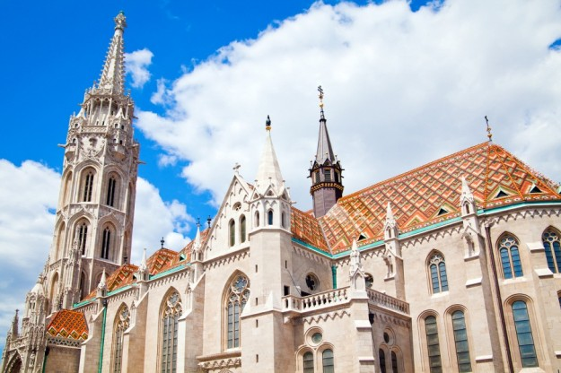 Matthias Church in the Castle District of Buda section of Budapest Hungary