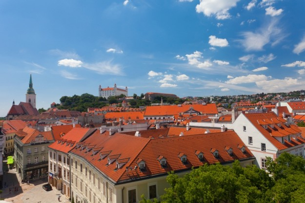 View of the historical center of Bratislava from the hill Slovakia