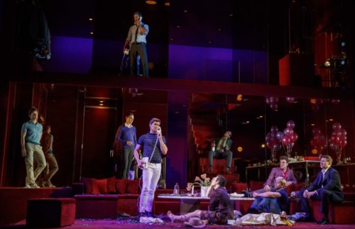 Boys in the Band By Mart Crowley Directed By Joe Mantello Jim Parsons Zachary Quinto Matt Bomer Andrew Rannells Brian Hutchinson Michael Benjamin Washington Charlie Carver Robin De Jesus Tuk Watkins l David Zinn – Set and Costume Design Hugh Vanstone – Lighting Design